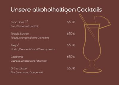 Alkoholhaltige Cocktails I
