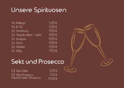 Spirituosen, Sekt und Prosecco