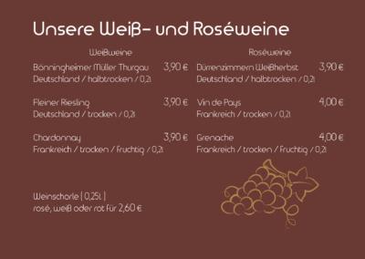 Weiß- und Roséweine